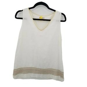 lila rose embroidered linen tank top